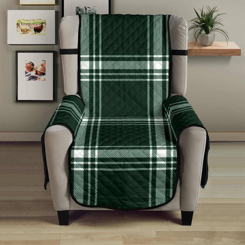 Plaid Armchair Slipcover Protector Cover For Up To 23