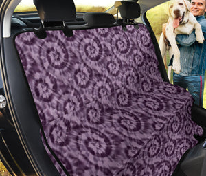 Purple Tie Dye Back Seat Cover Seat Protector For Pets