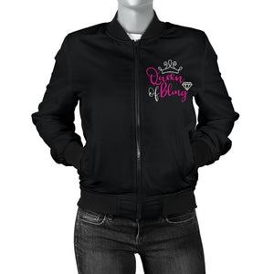 Queen Of Bling Bomber Jacket Womens Sizes Up To 4X