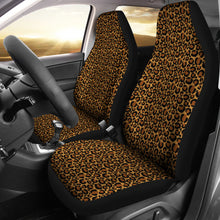 Load image into Gallery viewer, Classic Leopard Skin Car Seat Covers Animal Print Seat Protectors Set of 2