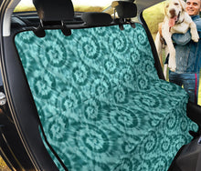 Load image into Gallery viewer, Turquoise Tie Dye Pet Car Seat Cover For Back Seat