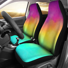Load image into Gallery viewer, Bright Rainbow Watercolor Car Seat Covers