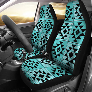 Turquoise Ethnic Tribal Pattern Car Seat Covers Set