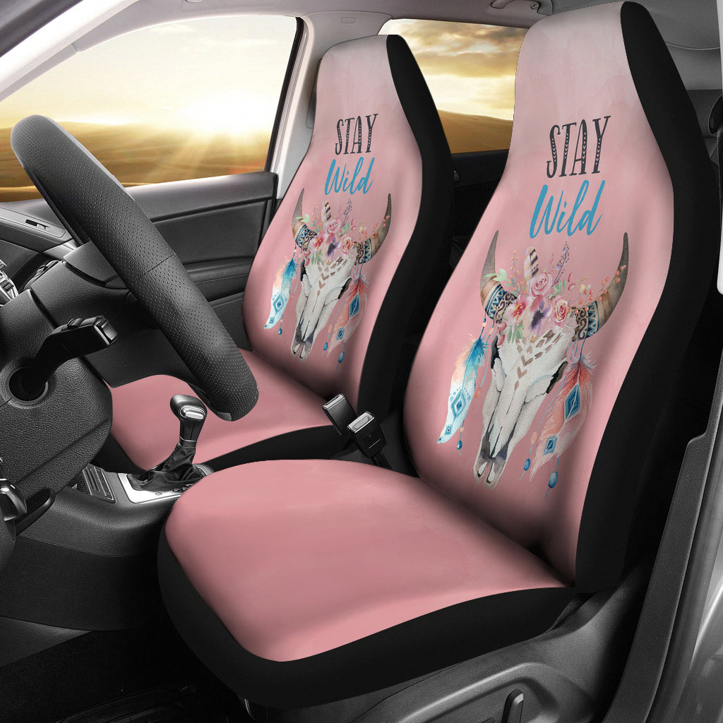 Stay Wild Seat Covers Dusty Rose Pink