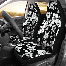 Load image into Gallery viewer, Black White Hibiscus Hawaiian Flower Pattern Car Seat Covers