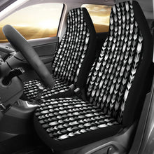 Load image into Gallery viewer, Gray, Black and White Boho Arrow Pattern Car Seat Covers
