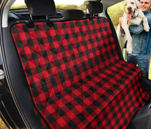 Load image into Gallery viewer, Red Black Buffalo Plaid Pet Back Seat Cover For Dogs