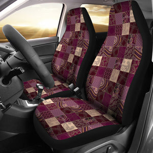 Purple Patchwork Style Car Seat Covers