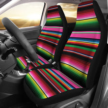 Load image into Gallery viewer, Serape Rainbow Colors Pink, Green, Car Seat Covers