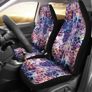Colorful Tie Dye Car Seat Covers