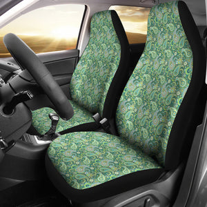 Blue and Green Paisley Pattern Car Seat Covers