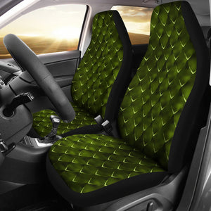 Dragon Scales Car Seat Covers Green Fantasy Mythology