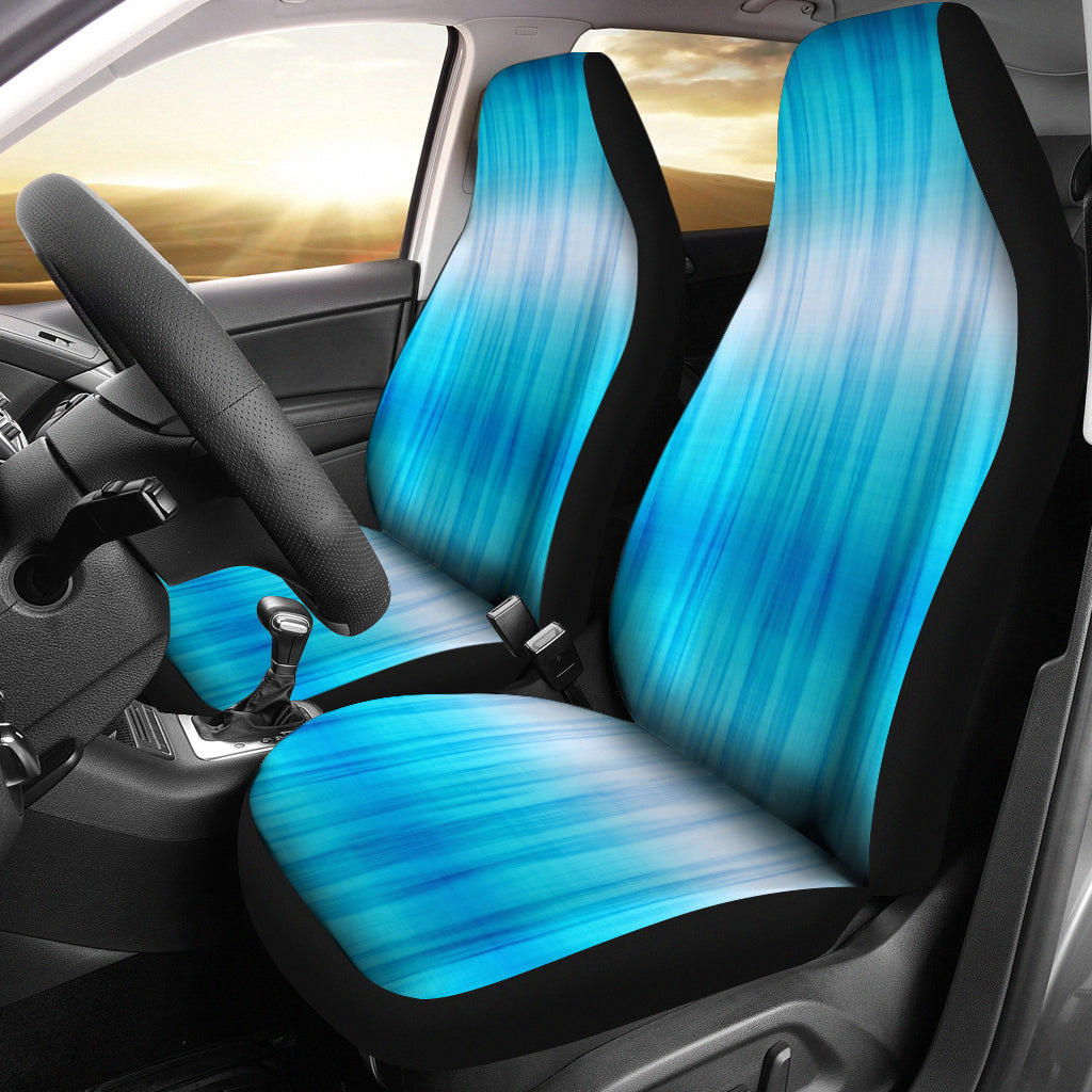 Blue Tie Dye Car Seat Covers