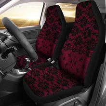 Load image into Gallery viewer, Dark Pink Lace Car Seat Covers