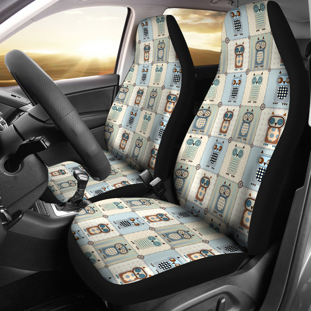 Patchwork Style Owl Pattern Car Seat Covers