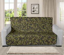"Load image into Gallery viewer, Camo Futon Protector Couch Cover Green, Brown, Gray Camouflage 70"" Seat Width"