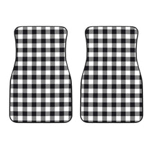 Load image into Gallery viewer, Black and White Buffalo Plaid Front Car Floor Mats
