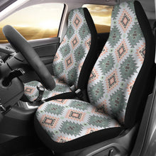 Load image into Gallery viewer, Pastel Green, Blue and Peach Southwestern Pattern Car Seat Covers Aztec Ethnic