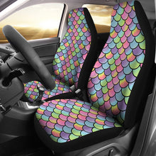 Load image into Gallery viewer, Rainbow Mermaid Scales Car Seat Covers Protectors