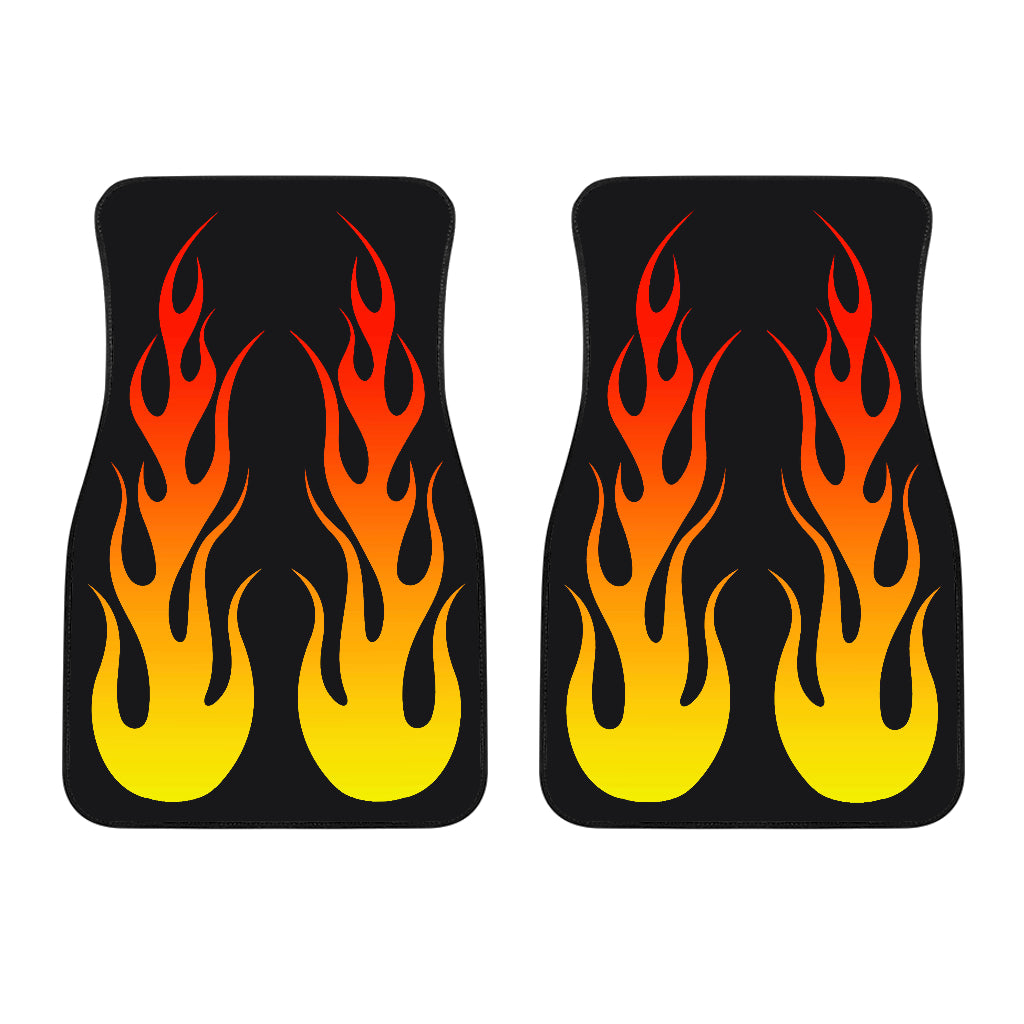 Flame Floor Mats Front Only Set of 2