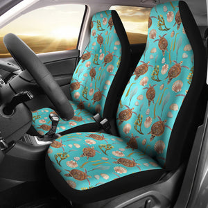 Seat Turtle Pattern Car Seat Covers Ocean Water Beach Theme