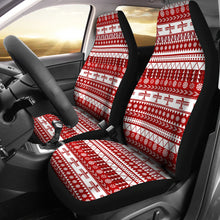 Load image into Gallery viewer, Red and White Thunderbird Pattern Car Seat Covers Native American Ethnic Mexican Inspired