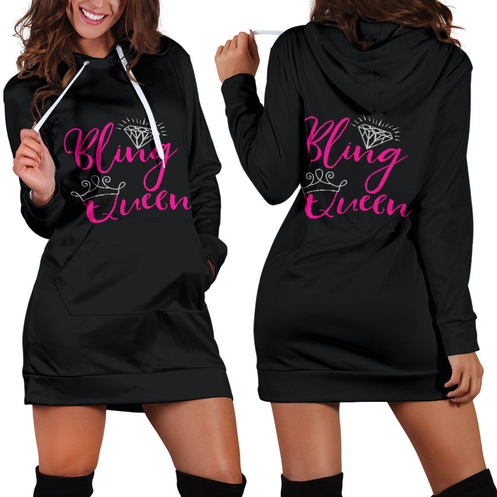 Bling Queen Hoodie Dress Sizes Up To 4X Swag For Paparazzi