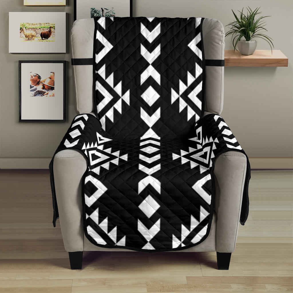 Black With White Ethnic Tribal Pattern on 23