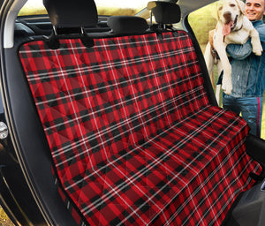 Plaid Red Black White Pet Dog Seat Cover Protector
