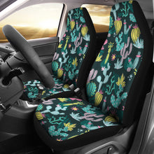 Load image into Gallery viewer, Colorful and Bright Cactus Pattern Car Seat Covers Set