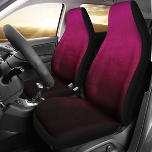Pink Watercolor Ombre Car Seat Covers