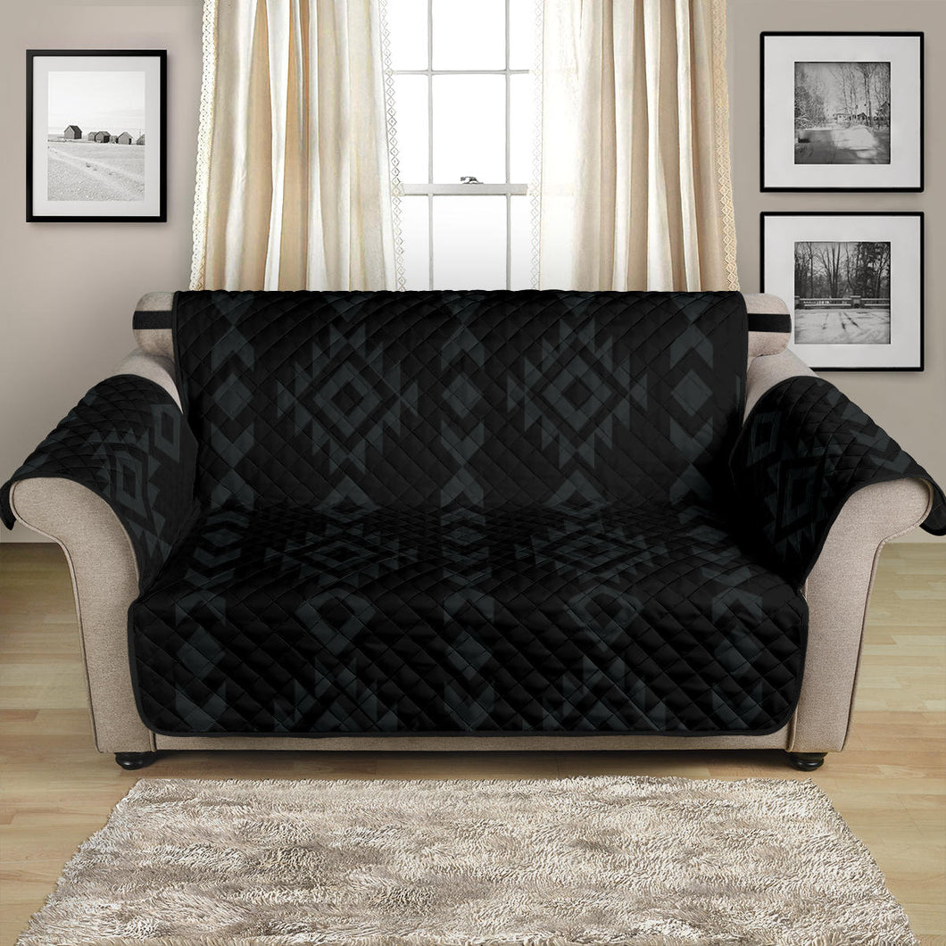 Black With Gray Ethnic Tribal Pattern on 54