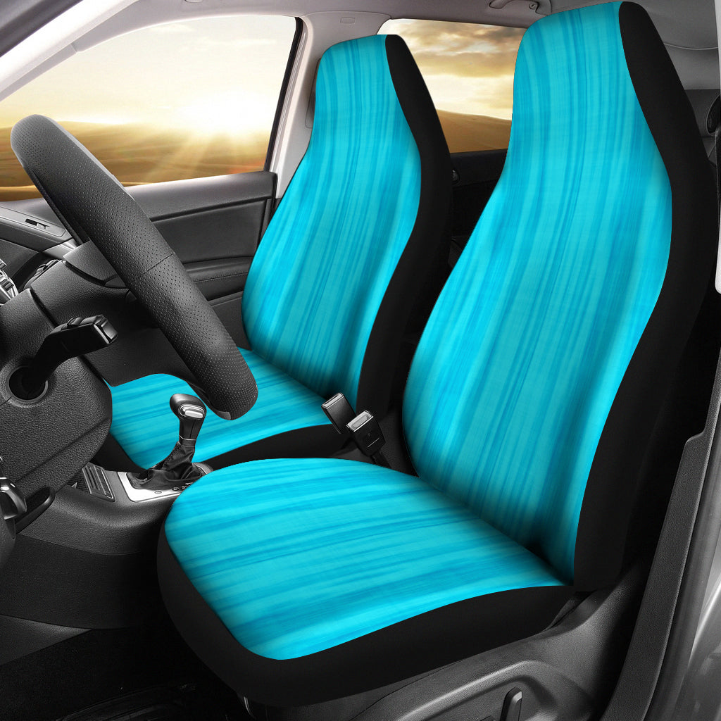 Bright Blue Tie Dye Car Seat Covers Seat Protectors