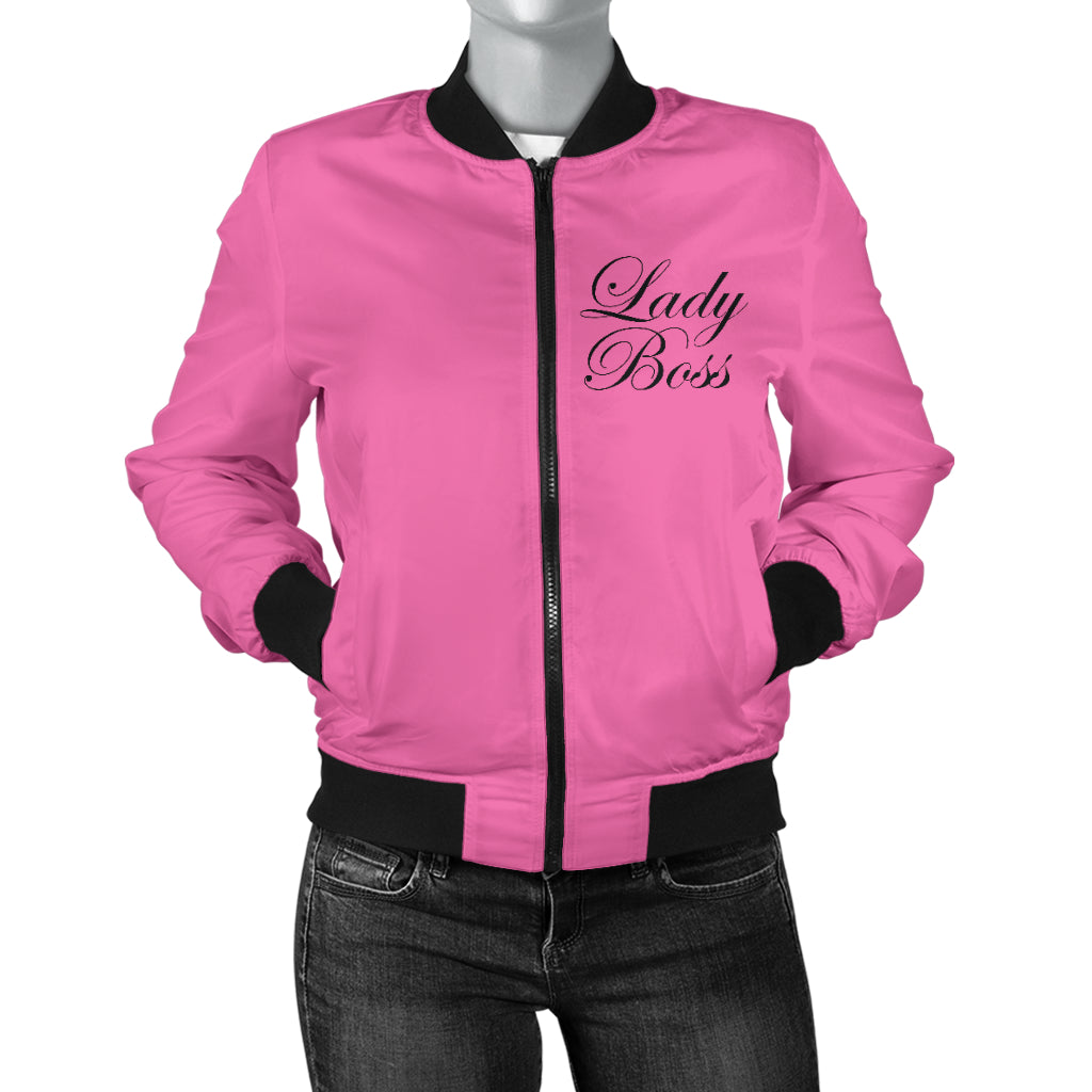 Pink Lady Boss Women's Bomber Jacket Sizes To 4X