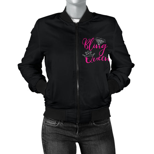 Bling Queen Women's Bomber Jacket Sizes Up To 4X