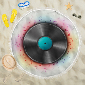 Vinyl Record Lover's Beach Blanket