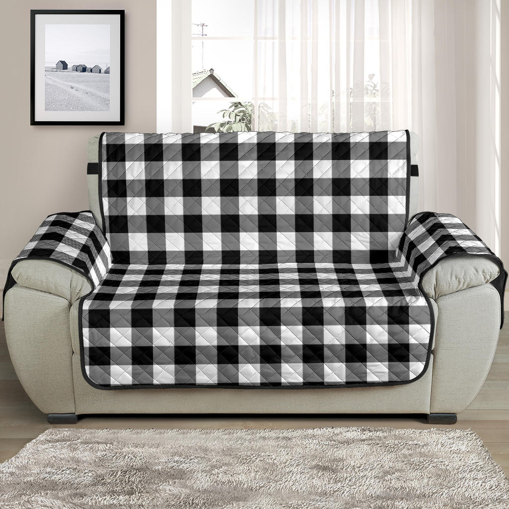 Black White Buffalo Plaid 48
