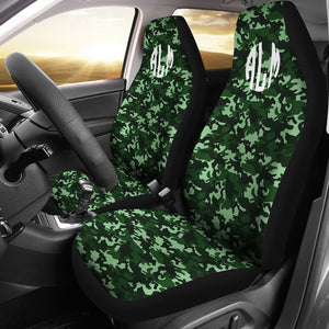 Green Camo Custom Seat Covers