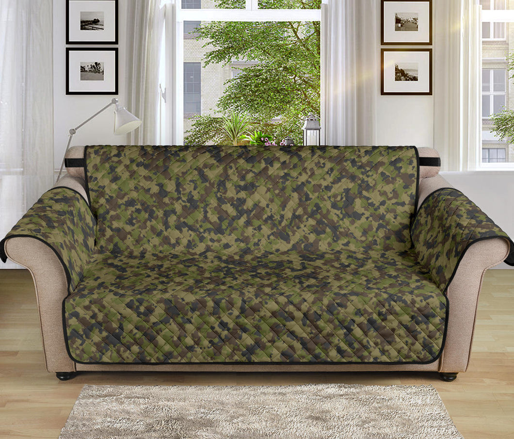 Camo Couch Protector green, Brown and Gray Camouflage Slip Cover 70