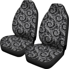 Load image into Gallery viewer, Black and Gray Tie Dye Car Seat Covers Front Seat Protectors