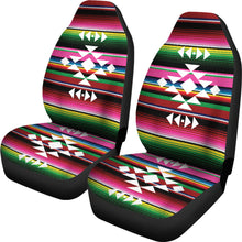 Load image into Gallery viewer, Ethnic Tribal Design on Colorful Rainbow Serape Car Seat Covers