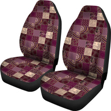 Load image into Gallery viewer, Purple Patchwork Style Car Seat Covers
