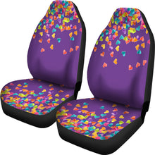 Load image into Gallery viewer, Heart Confetti Car Seat Covers Seat Protectors on Purple Background
