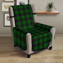 "Load image into Gallery viewer, Green Buffalo Plaid 23"" Chair Sofa Protector Couch Cover Farmhouse Decor"