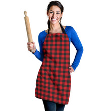 Load image into Gallery viewer, Red Buffalo Plaid Women's Apron