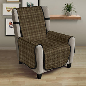 Green, Brown Plaid Pattern Armchair Slipcover