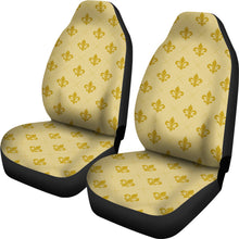 Load image into Gallery viewer, Gold Fleur De Lis Car Seat Covers Seat Protectors