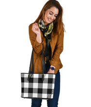 Load image into Gallery viewer, Large Buffalo Plaid Pattern Tote Bags