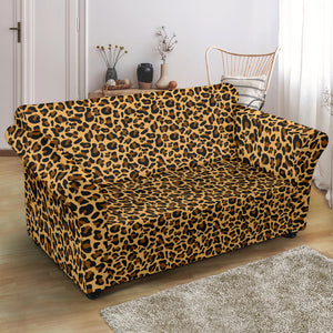 Loveseat Leopard Print Stretch Slip Cover Fits Up To 68""
