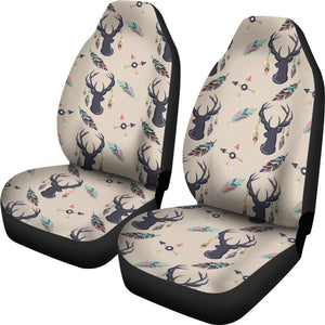 Boho Deer Feathers and Arrows Car Seat Covers Tan